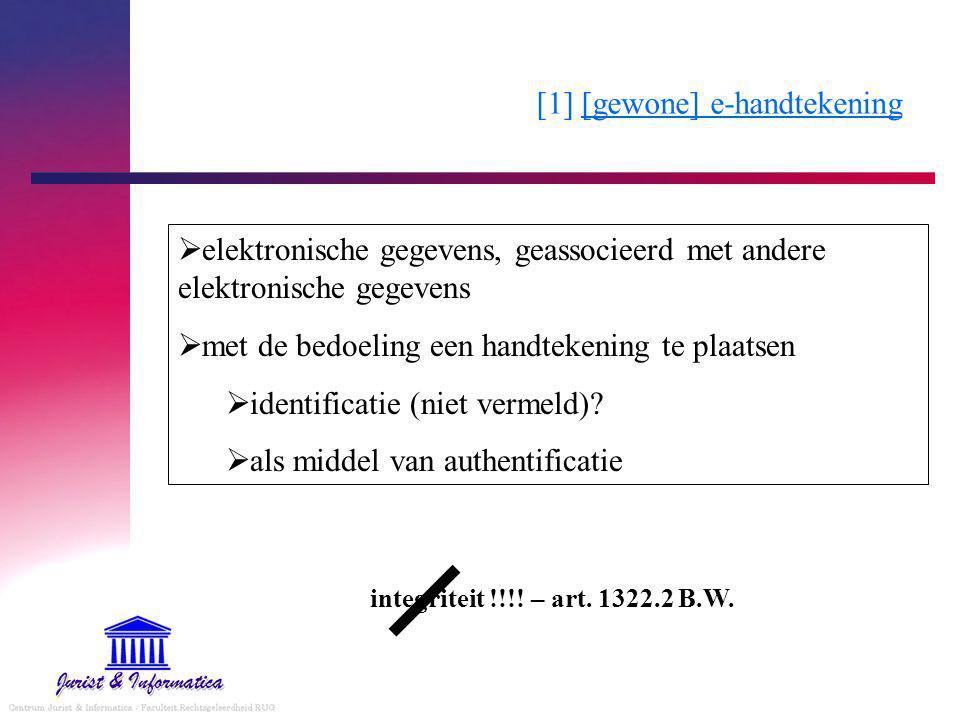 [1] [gewone] e-handtekening